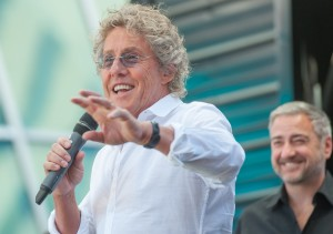 Roger Daltrey, lead singer of The Who and Jeff Victor, president of Fremont Street Experience at a joint press conference announcing The Who's new Viva Vision show, The Who – Miles Over Vegas on Monday, Aug. 12 at Fremont Street Experience in Downtown Las Vegas.
