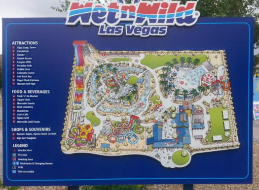 Wet N Wild Las Vegas Map.Beat The Heat Of Las Vegas At Wet N Wild Water Park Rosarioknows Com