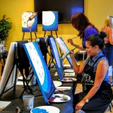 Bring out your inner Picasso at the Paint-Drink-Dine series at Crazy Pita Rotisserie & Grill
