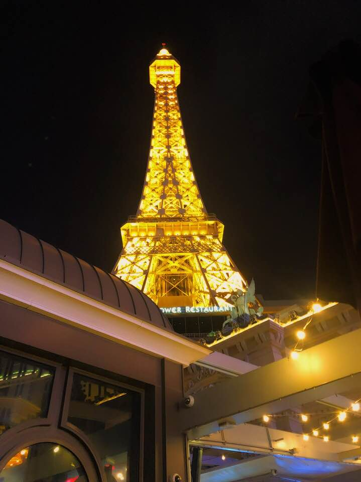 The Eiffel Tower: Spectacular 360 degree views of Las Vegas and The